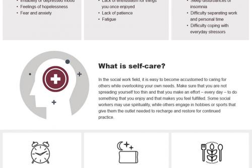Self-Care for Social Workers - Infographic